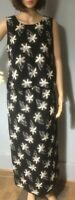Windsmoor Womens Floral Skirt And Top Suit Uk Size 10 Black Beige Brand New