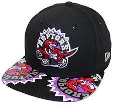 New Era 9Fifty Visor Mixer Toronto Raptors Black Snapback Purple Underbrim HWC