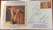 1982 commonwealth games silk cachet cover signed by dean lukin