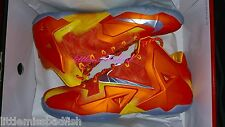 NEW DS Nike Air Lebron 11 XI Preheat Forging Iron Orange Size 12 2k14 WTL Champ