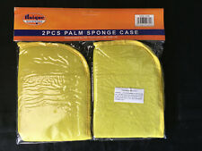 PACK OF TWO PALM SPONGE CASES YELLOW