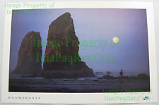 VHTF Vintage NIKE Running Poster ☆ Moonrunner ☆ Cannon Beach ☆ Full Moon