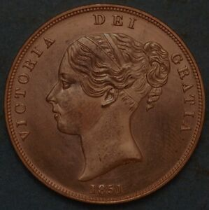 Great Britain Penny 1851 Victoria Queen KM# 739 1532