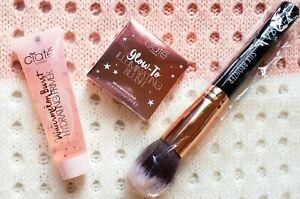 CIATE Glow To Illuminating Blush, Primer + Brand New YENSA Bronzing Brush