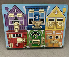 Melissa & Doug Latches Busy Board Locks Toy Baby Puzzle Wooden Activity Boy Girl