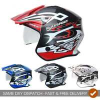 Wulfsport Adults Vista Motor Bike Motorcycle Trials Helmet With Visor