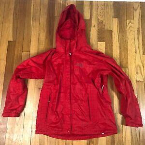 Womens Columbia Sportswear Titanium Omni-tech Red Rain Coat Jacket. Size Large