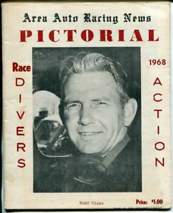 Area Auto Racing News 1968-pictorial yearbook-Bill Olsen-Al Tasnay-VG/FN
