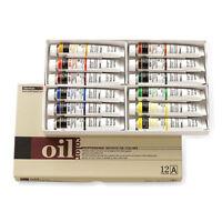 Oil Colour Paint Set Shinhan Professional 12 Colours 50ml A Tube Artist Drawing