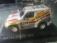 1/43 MITSUBISHI PAJERO  N°206 RALLY PARIS DAKAR 1998