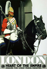 Art Ad London Heart of the Empire GWR  Train Rail Travel  Poster Print