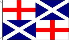 BRITISH NAVAL ENSIGN 1659 5' x 3' England Scotland Navy St Andrews George Flag