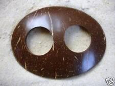 Nouveau Coquille de Coco Sarong Paréo boucle clipsable clip cravate fermoir toggle ovale / hrb