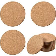 5 mm Thick Tan Wooden Cork Drink Coasters, Round Circle Cork Trivets, Packs of 1