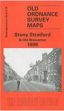 Vieux Ordnance Survey Map Stony Stratford Old Wolverton Calverton fin 1898