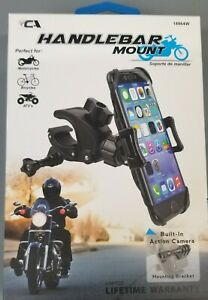 Motorcycle Cell Phone Handle Bar Mount built in action camera mounting Bracket