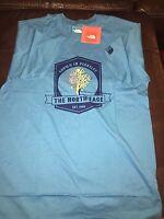 North Face Men's Grown Tee Shirt Xtra Large Blue Aster