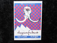 Grateful Dead Postcard 5X7 Jan. 20, 1979 Show 2nd Print 1988 Artist Andrew Elias
