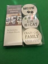Set of 3 Pet Cat Photo Stands  New