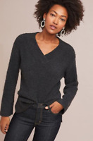 Womens Anthropologie Grey Clayton V-Neck Jumper RRP £98 - Size Small