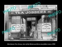OLD LARGE HISTORIC PHOTO OF MORRISTOWN NEW JERSEY, THE DD TEA JOBBERS STORE 1900