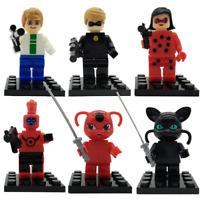 6 Sets Miraculous Ladybug Black Cat Mini figures Building Toys Fit LEGO Toys