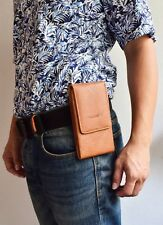 HORIZONTAL LEATHER MOBILE PHONE CASES COVER BELT HOLSTER CLIP POUCH SLEEVE
