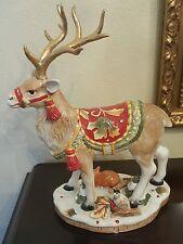 Fitz & Floyd reindeer holiday deer festive hand painted chirtmas