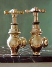 Vintage Brass Globe Taps Fully Restored Antique Period Hardware Bath Sink