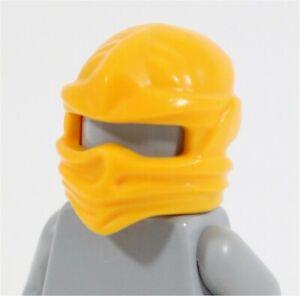 RARE LEGO MINIFIGURE NINJA MASK BRIGHT LIGHT ORANGE PART - NINJAGO TEST COLOUR