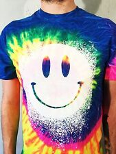 Tie Dye christmas t shirt Acid Smiley bo hoo tee top clothing small to 2xl