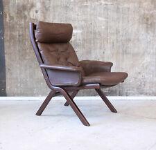Vintage Ledersessel 70er Mid-Century Modern 70s Leather Easy Chair  60er 60s