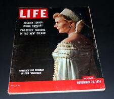 LIFE MAGAZINE NOVEMBER 26 TH 1956 INRID BERGMAN IN ANASTASIA