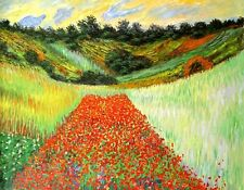"""Claude Monet  Repro  Oil Painting - Field-of-Poppies-at-Giverny - size 38""""x30"""""""