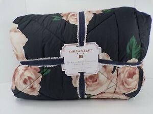 Pottery Barn Teen Emily & Meritt Bed of Roses Comforter Full Queen Blush #321J