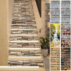 13pcs 3D Stair Riser Staircase Sticker Photo Mural Decal Ceramic Tile Wallpaper