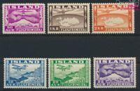 Island 175-180 (kompl.Ausg.) postfrisch 1934 Flugpostmarken (9077380