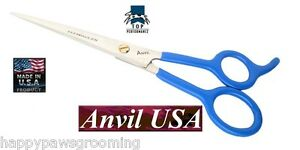 """USA MADE TP/ANVIL PET Dog GROOMING STRAIGHT 6 1/2"""" Fine Tip Point Shear Scissor"""