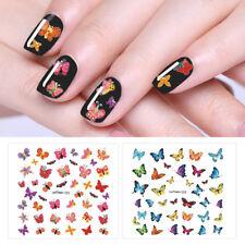 LEMOOC Nagel Kunst Water Decals Butterfly Transfer Stickers Maniküre 24 Patterns