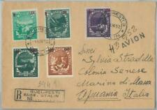 77563 - ROMANIA - POSTAL HISTORY - Nice franking REGISTERED COVER to ITALY 1952