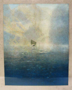 VERY Shabby Chic Condition Maxfield Parrish Print Marked P.F. Collier & Son yqz