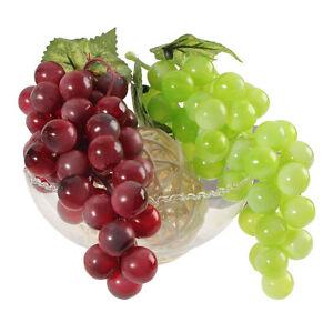 Lebensechte künstliche grüne Trauben Kunststoff gefälschte Früchte Lebensmittel