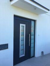 Aluminium doors Schüco door + 1  side panel - GRAY RAL 7016