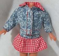 Stacie's Red White Gingham & Blue Country Western Sleeve Jacket/Top Skirt Shoes