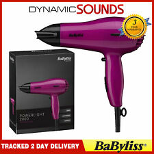 BaByliss 5247U Powerful Compact Lightweight Hair Dryer Pink Powerlight 2000W