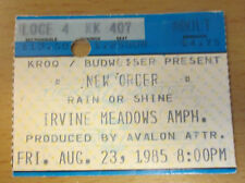 1985 NEW ORDER LOS ANGELES CONCERT TICKET STUB JOY DIVISION BLUE MONDAY SUMNER