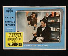 TOTò PEPPINO E LA MALAFEMMINA fotobusta poster Peppino De Filippo Soldi M38