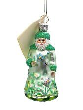 Patricia Breen Green Rainforest Santa Clause Christmas Tree Miniature Ornament