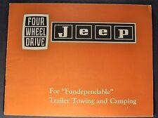 1965-1966 Jeep Towing Brochure CJ-5 CJ-6 Universal Wagoneer Gladiator Pickup