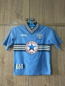 Newcastle United FC Adidas Football Shirt Away 1996/1997 Boys Kids Size 2XS 6/7